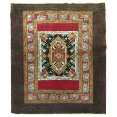 Square Size Turkish Throw Rug