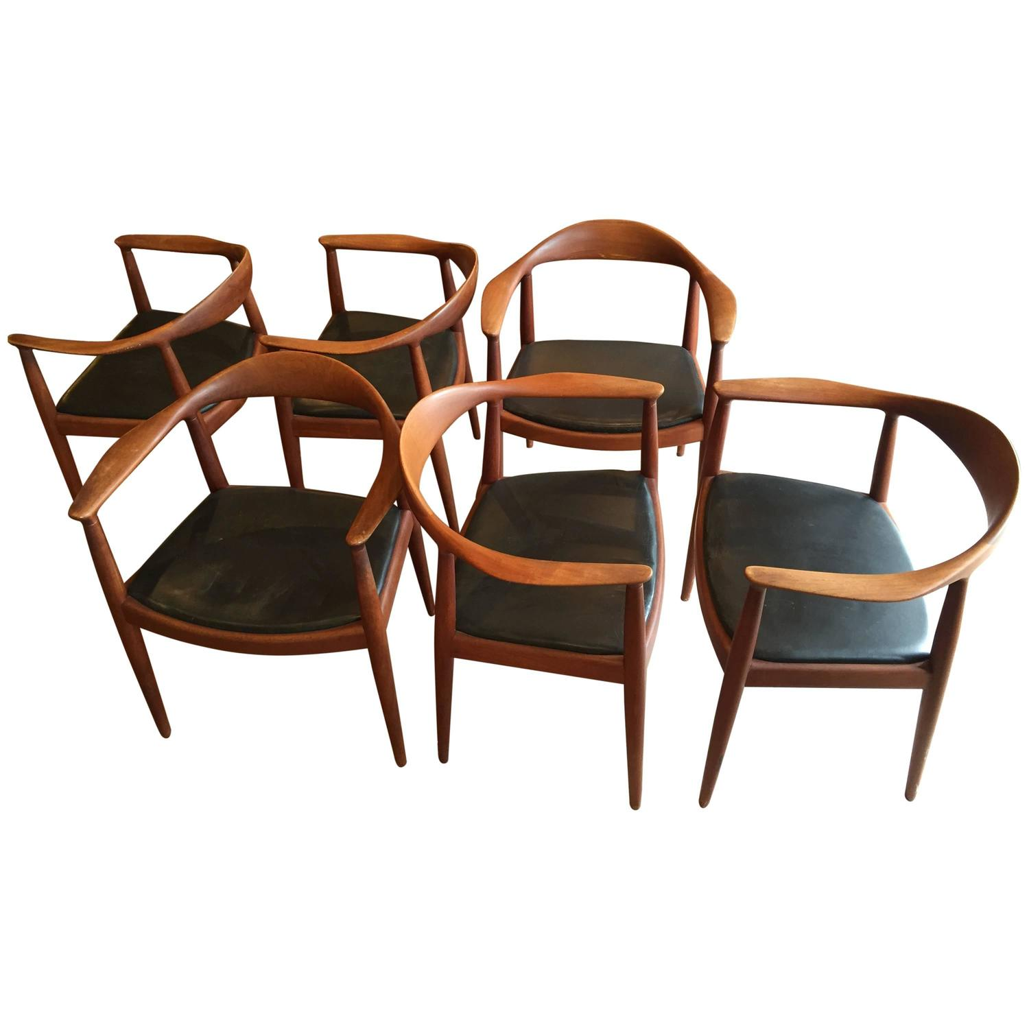 Set Of Six Classic Hans Wegner The Chair For Johannes Hansen At 1
