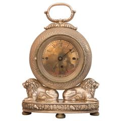 Silvered Carriage Clock, Austria, circa 1830