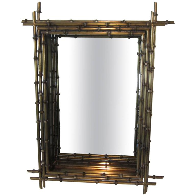 Curtis Jere Faux Gold Gilt Wall Mirror 1