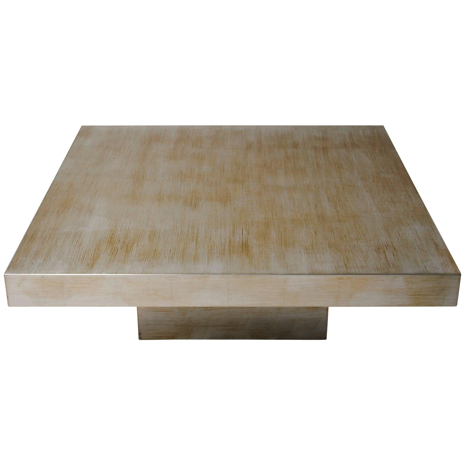 Scale Silver Leaf and Gold Coffee Table by Cyrus Furniture