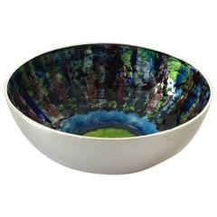 Anton Michelsen Sterling Silver Inger Hanmann Bowl with Enamel