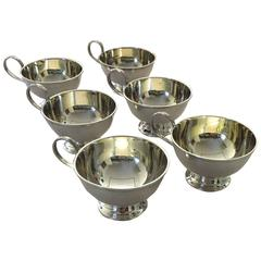 Set of Six Swedish Silver Punch Glasses from GAB