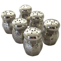 Set of Six Salt and Pepper Shakers