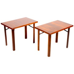 Pair of End Tables in Rosewood, 1950s