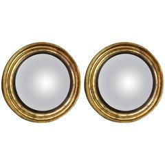 Pair of Large-Scale Regency Convex Mirrors