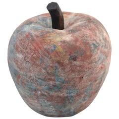 Large Raku Pottery Apple