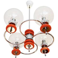 Chandelier Attributed to Rupert Nikoll, 1970s