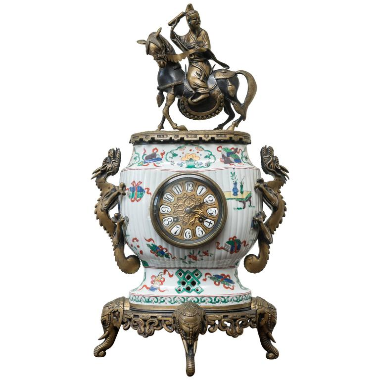 19th Century, French Clock in the Chinoiserie Style