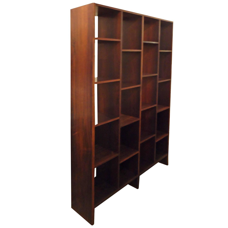 Danish rosewood room divider bookshelf at 1stdibs - Bookshelves as room dividers ...