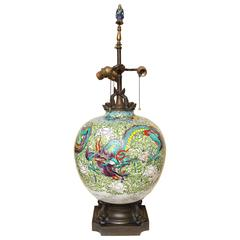 Large Chinese Porcelain Table Lamp