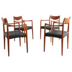 Four Danish Teak Dining Armchairs for Søren Willadsen