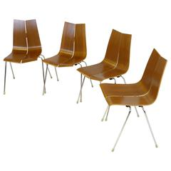 Four GA Stacking Chairs Designed by Hans Bellmann for Horgen-Glarus, 1952
