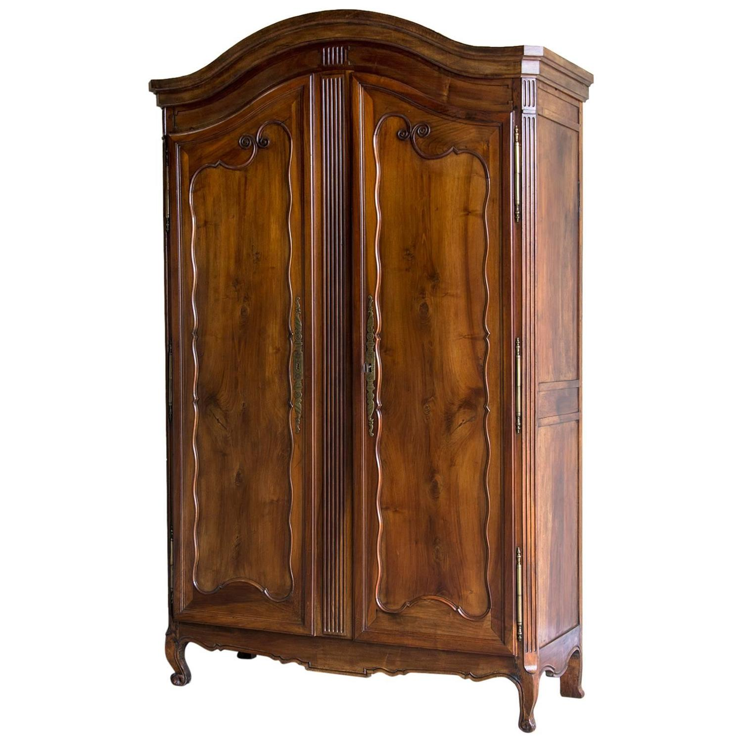louis xv style antique french cherrywood armoire normandy. Black Bedroom Furniture Sets. Home Design Ideas