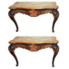 Pair of 19th Century Painted Venetian Consoles