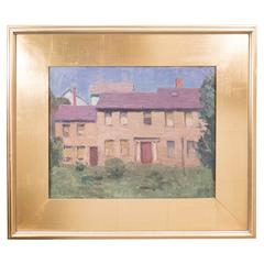 Agnes Millen Richmond, Portrait of a House, Oil on Canvas, Signed