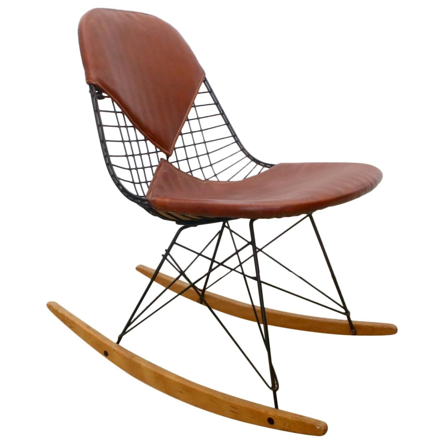 charles eames bikini rkr 1 wire rocker for herman miller at 1stdibs. Black Bedroom Furniture Sets. Home Design Ideas