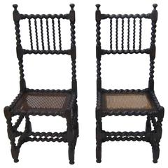 Pair of Barley Twist Side Chairs