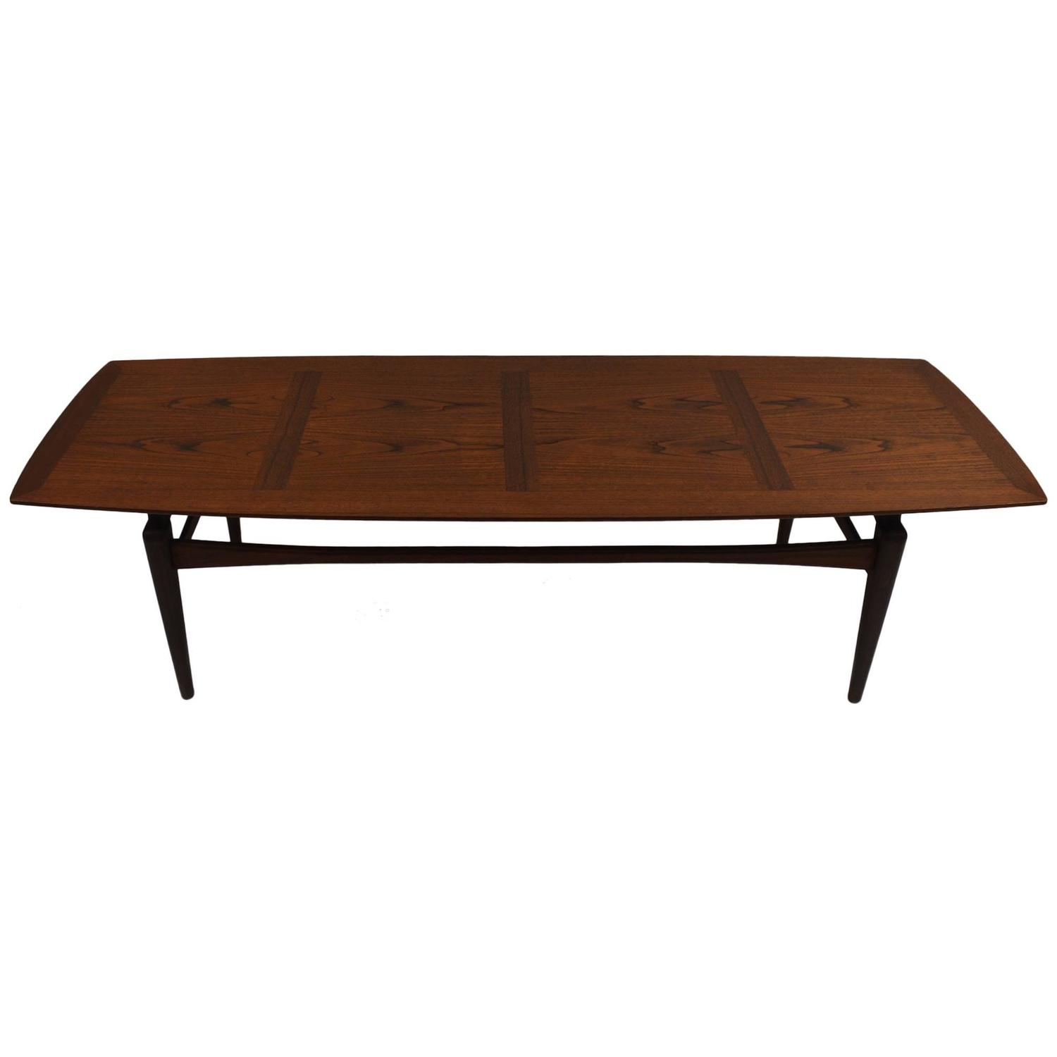 Danish Modern Surfboard Coffee Table At 1stdibs