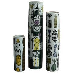 Three Karneval Vases by Stig Lindberg for Gustavsberg