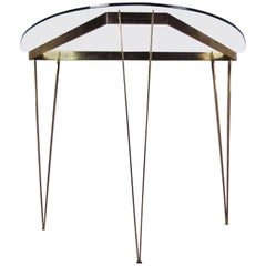 Vintage Modern Demilune Hall Table