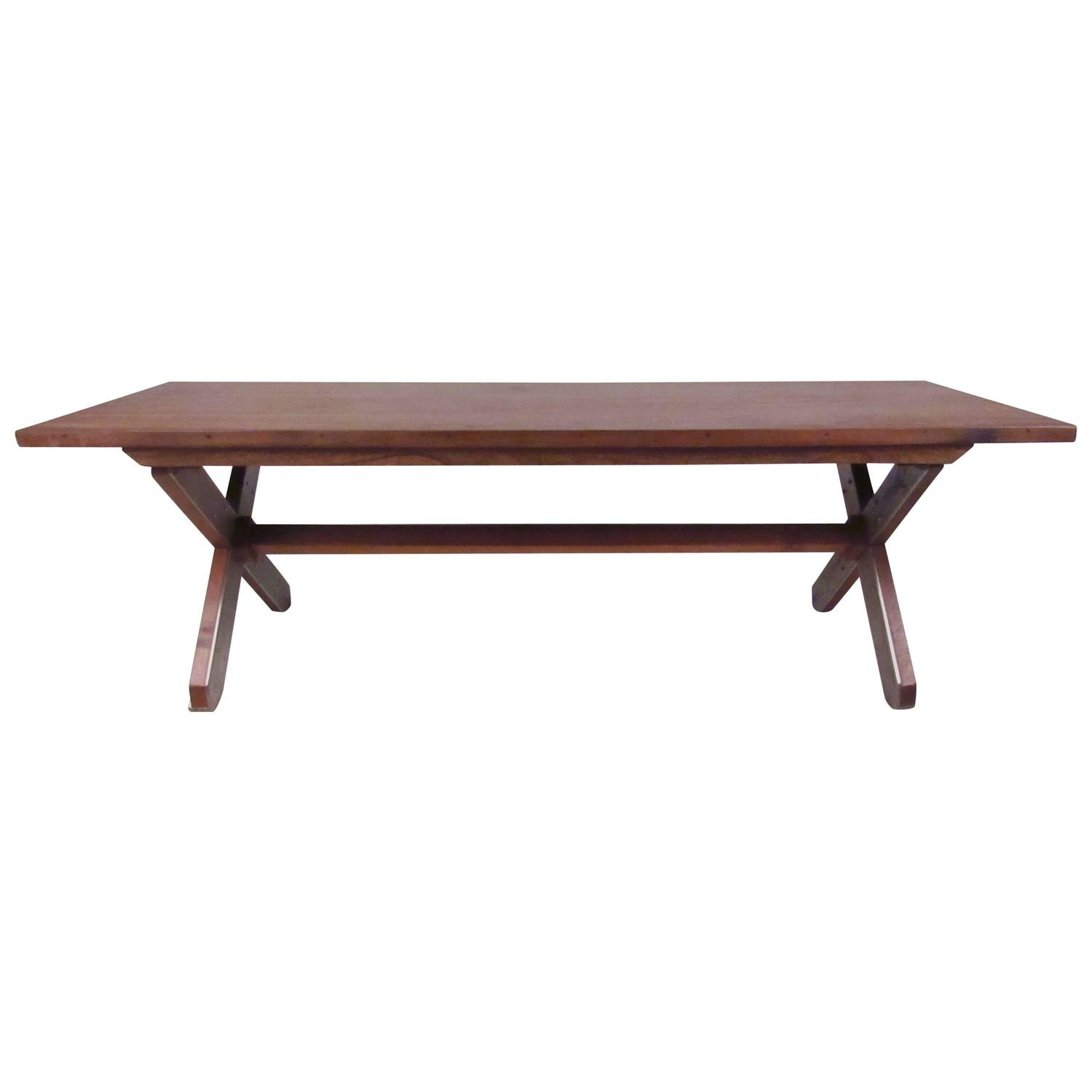 Unique farm style coffee table in rosewood at 1stdibs Farm style coffee tables