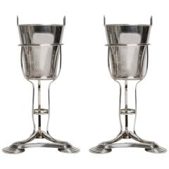Déco Silver Plate Wine or Champagne Coolers,also as Ice Bucket -  Rare Pair !