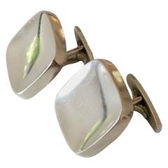 Bent Knudsen Sterling Silver Square Cuff Links #10