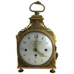 Louis XVI Ormolu Carriage Clock, Pendule d'Officier, Late 18th Century