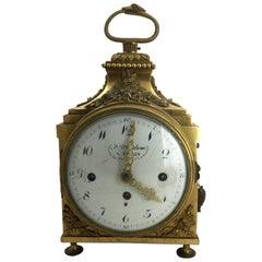 Louis XVI Ormolu Carriage Clock, Pendule d'Officier, Late 18th Century