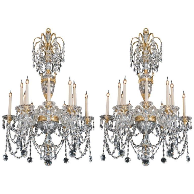 Pair of 20th Century Chandeliers in the Style of Perry & Co