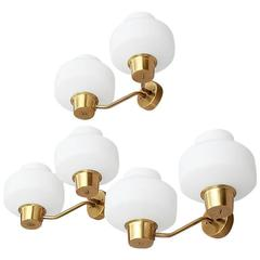 Set of Sconces in the Style of Vilhelm Lauritzen, circa 1950