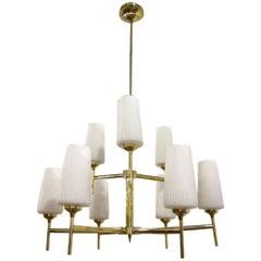 Stilnovo Brass Chandelier