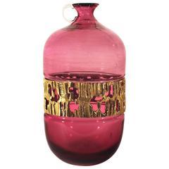 Murano glass demijohn style vase by Angelo Brotto