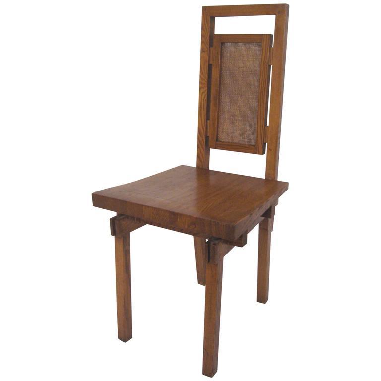 Bauhaus chairs holes - Edward Axel Roffman Modern Oak Chair In The Manner Of Frank Lloyd