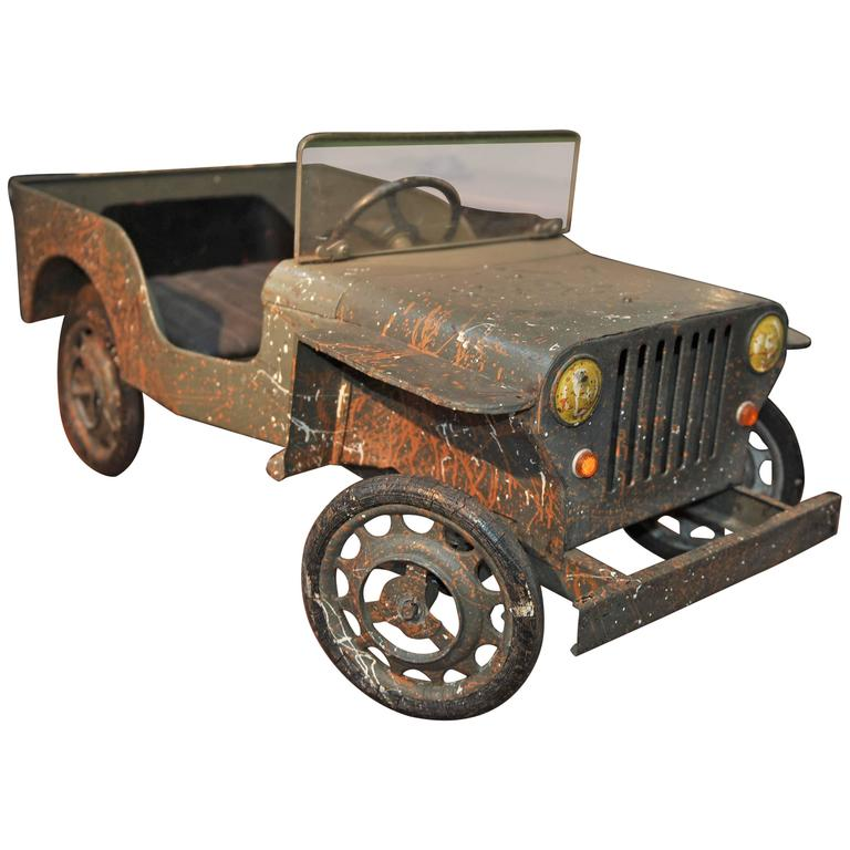 Jeep Iron Pedal Car, Manufactured In France, Circa 1950 At
