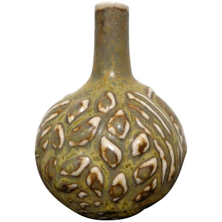 Axel Salto Bud Vase with Solfatara Glaze