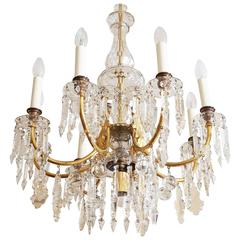 Elegant and Totally Unique J. L. Lobmeyr Cat Crystal Chandelier
