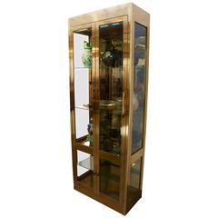 Mastercraft Brass Vitrine or Display Cabinet