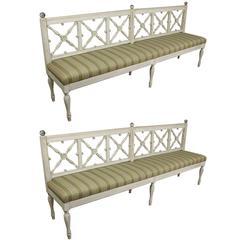 Antique Late Gustavian Long Bench