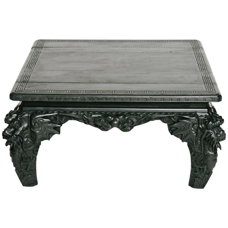 Turn Of The Century Carved Dragon Cocktail Table For Sale At 1stdibs