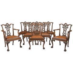 Set of 8 Mahogany Dining Chairs