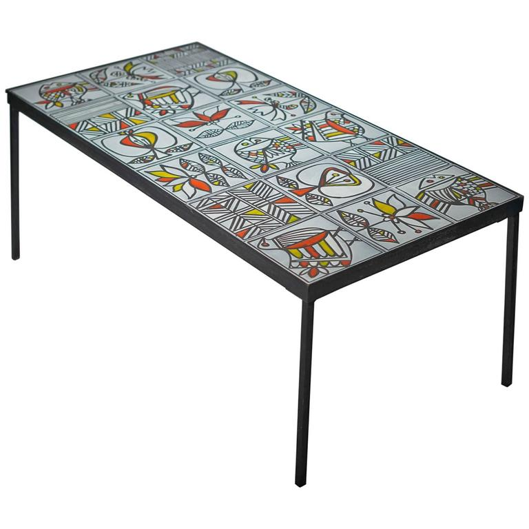 Table Top 1955: Roger Capron Ceramic Table, 1955 At 1stdibs