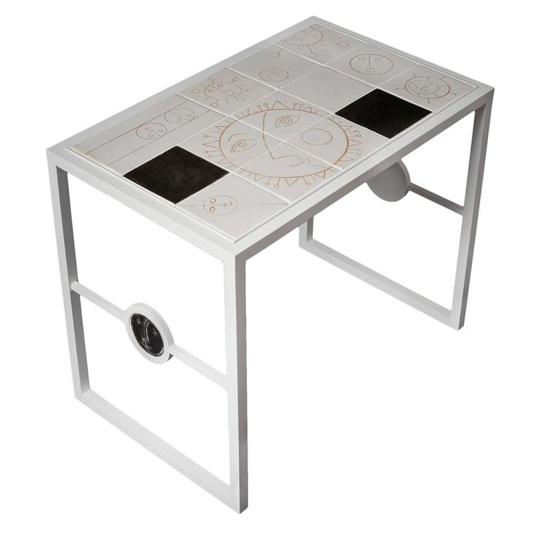 White Ceramic And Metal Coffee Table By Dalo 2015 For Sale At 1stdibs