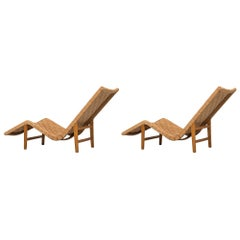 Pair of Swedish Lounge Chairs in the Manner of GA Berg