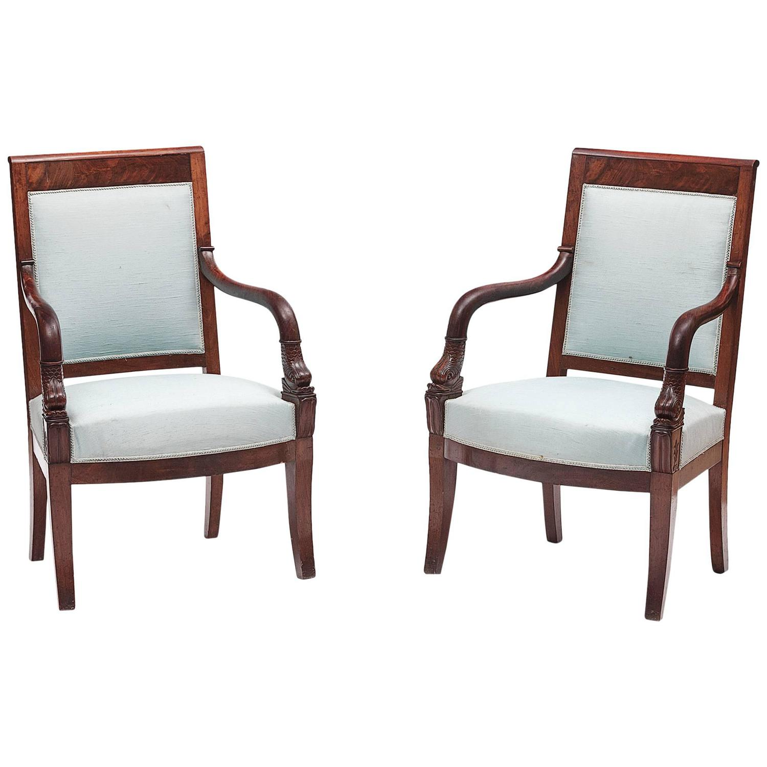 Early 19th Century Pair of Biedermeier Chairs at 1stdibs