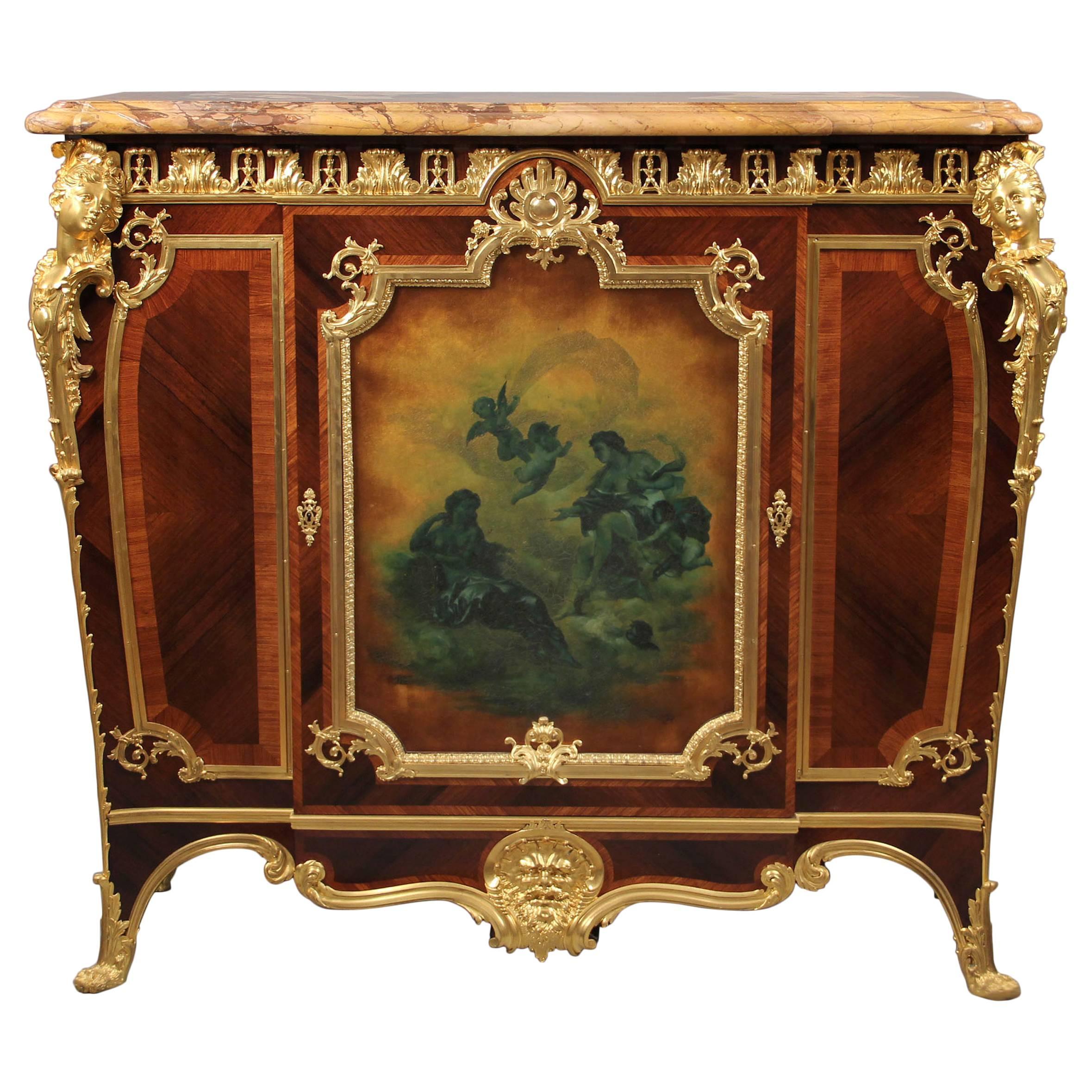 Fine 19th Century Gilt Bronze-Mounted Cabinet by Joseph Zwiener