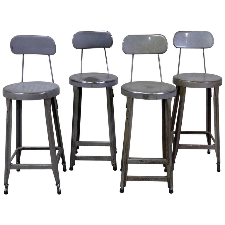 This Set of Four Counter Height Industrial Stools is no longer ...