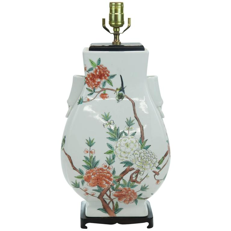 Asian vase table lamp for sale at 1stdibs for Oriental vase and furniture