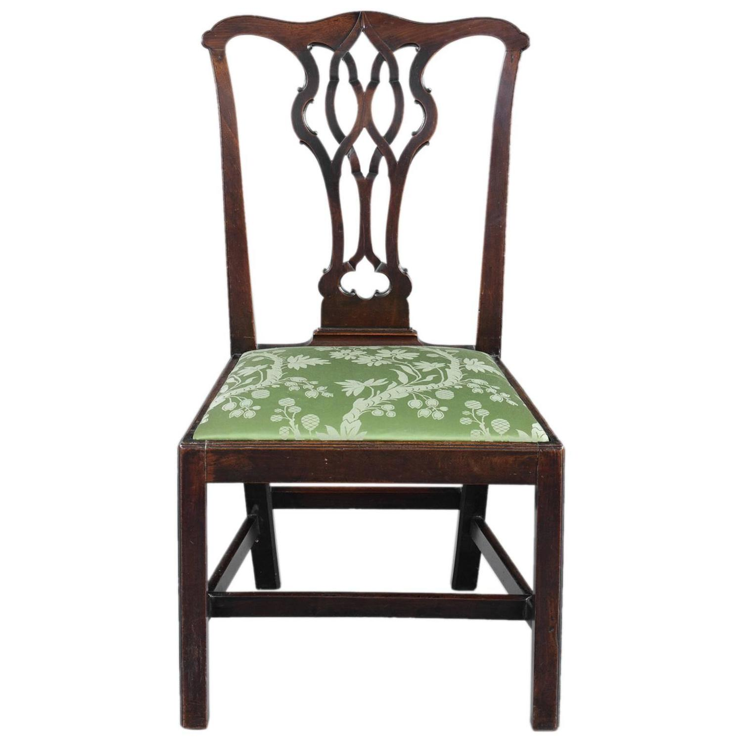 English Antique Chippendale Side Chair At 1stdibs